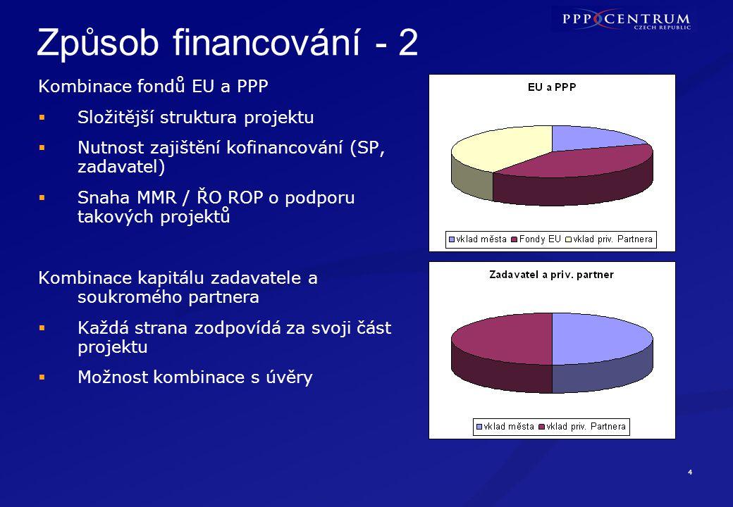Co zvažujeme u způsobu financování PPP projektů