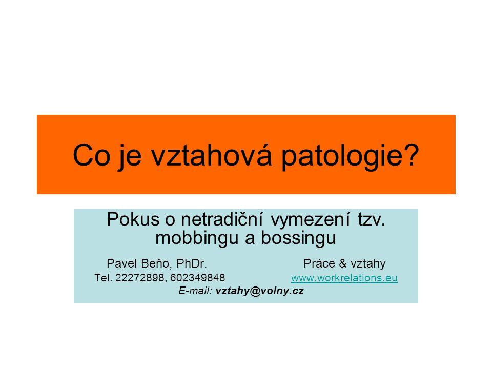 Co je vztahová patologie
