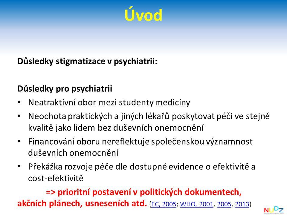 Úvod Důsledky stigmatizace v psychiatrii: Důsledky pro psychiatrii