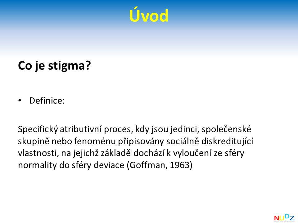 Úvod Co je stigma Definice:
