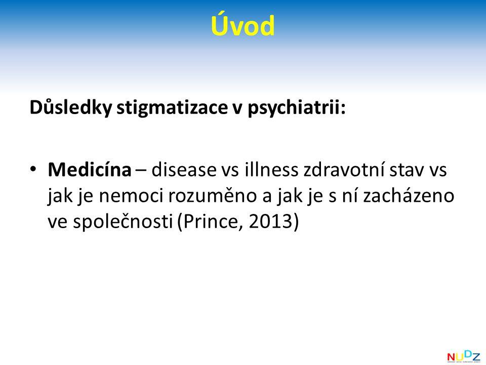 Úvod Důsledky stigmatizace v psychiatrii: