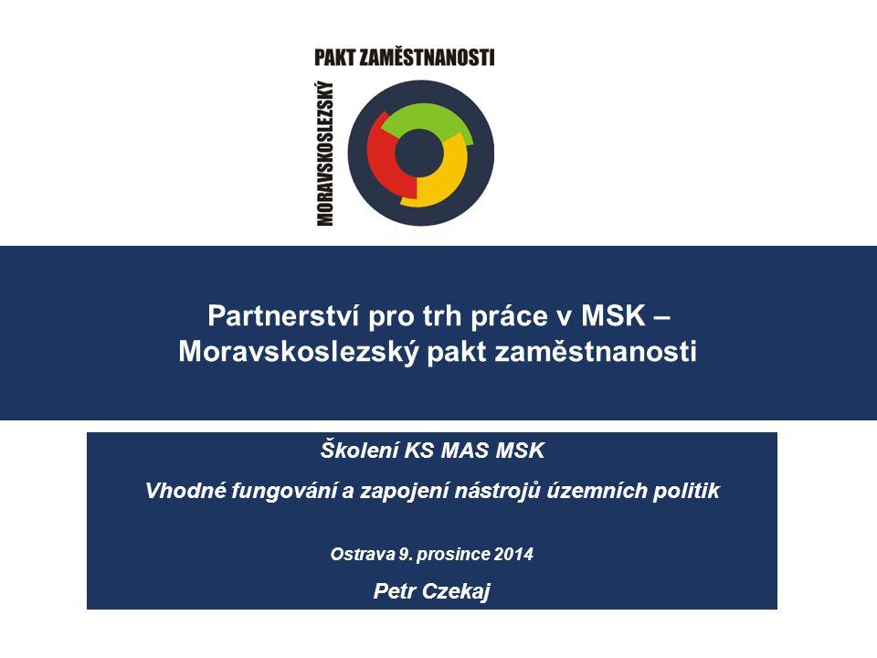 Partnerství pro trh práce v MSK – Moravskoslezský pakt zaměstnanosti