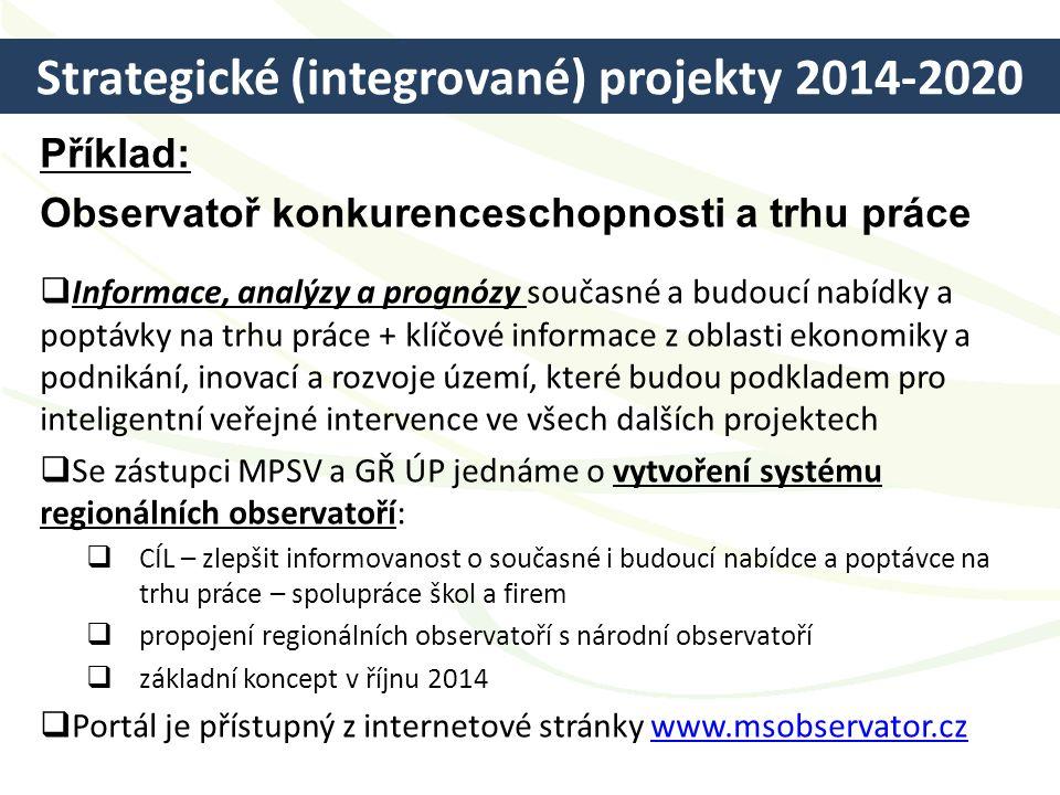 Strategické (integrované) projekty 2014-2020