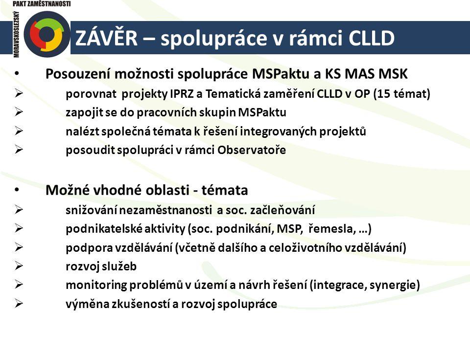 ZÁVĚR – spolupráce v rámci CLLD
