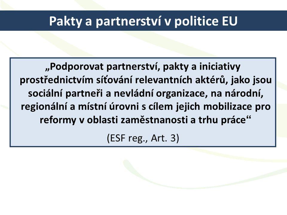 Pakty a partnerství v politice EU