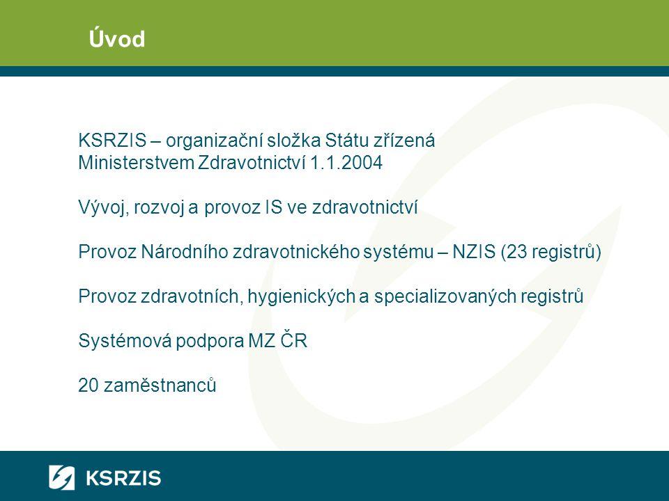 Úvod KSRZIS – organizační složka Státu zřízená