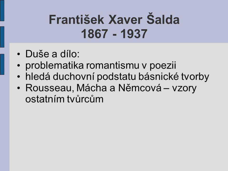 František Xaver Šalda 1867 - 1937