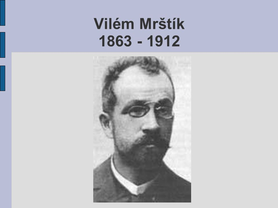 Vilém Mrštík 1863 - 1912