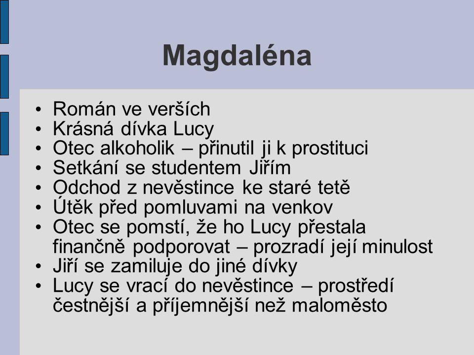 Magdaléna Román ve verších Krásná dívka Lucy