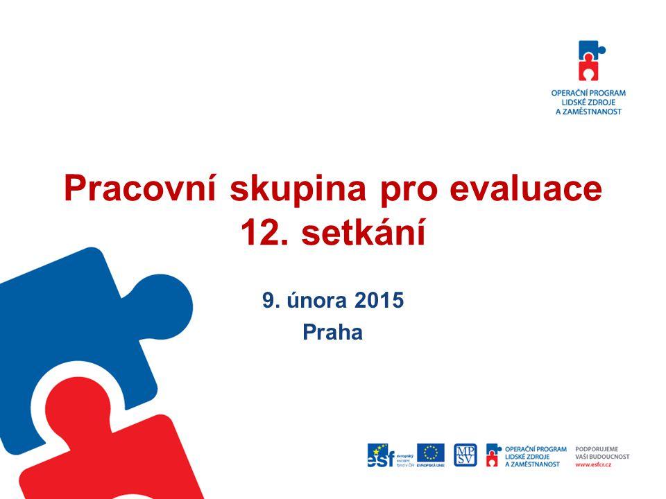 Pracovní skupina pro evaluace 12. setkání
