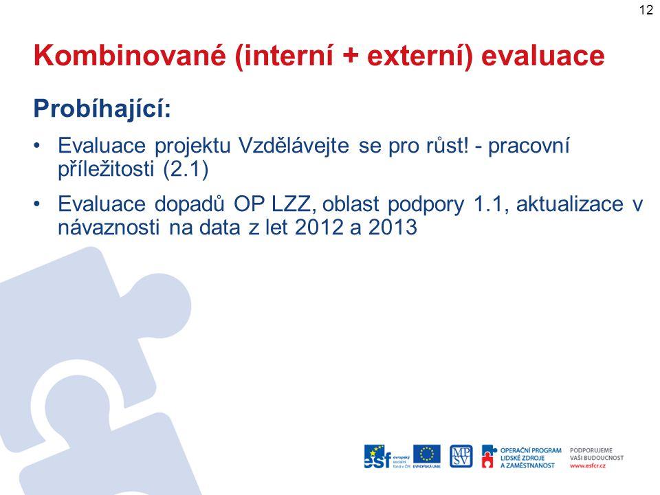 Kombinované (interní + externí) evaluace