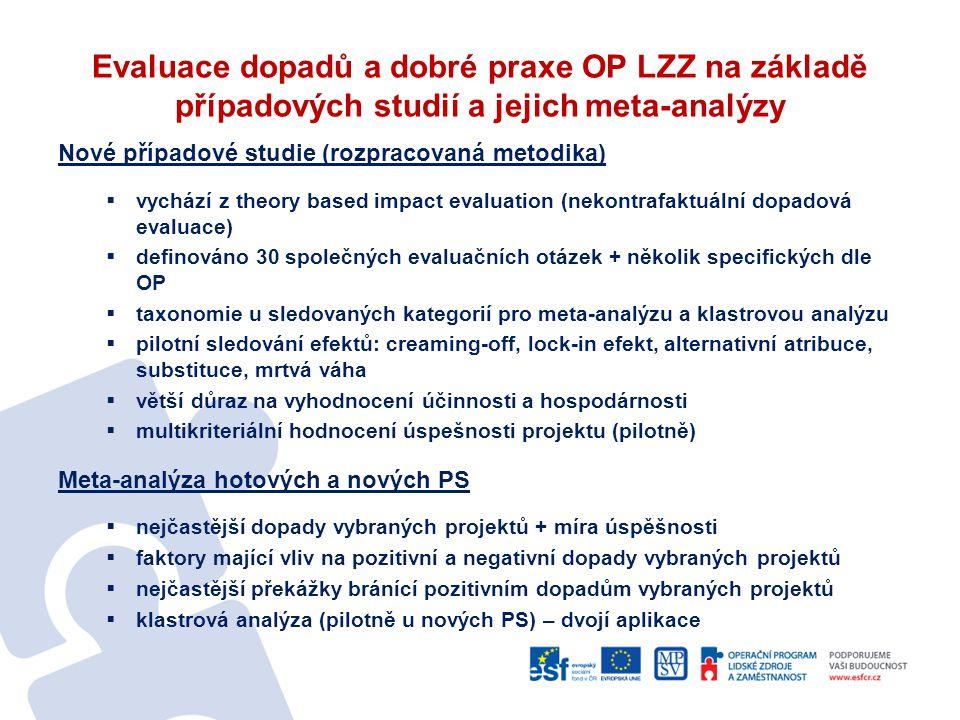 Evaluace dopadů a dobré praxe OP LZZ na základě případových studií a jejich meta-analýzy