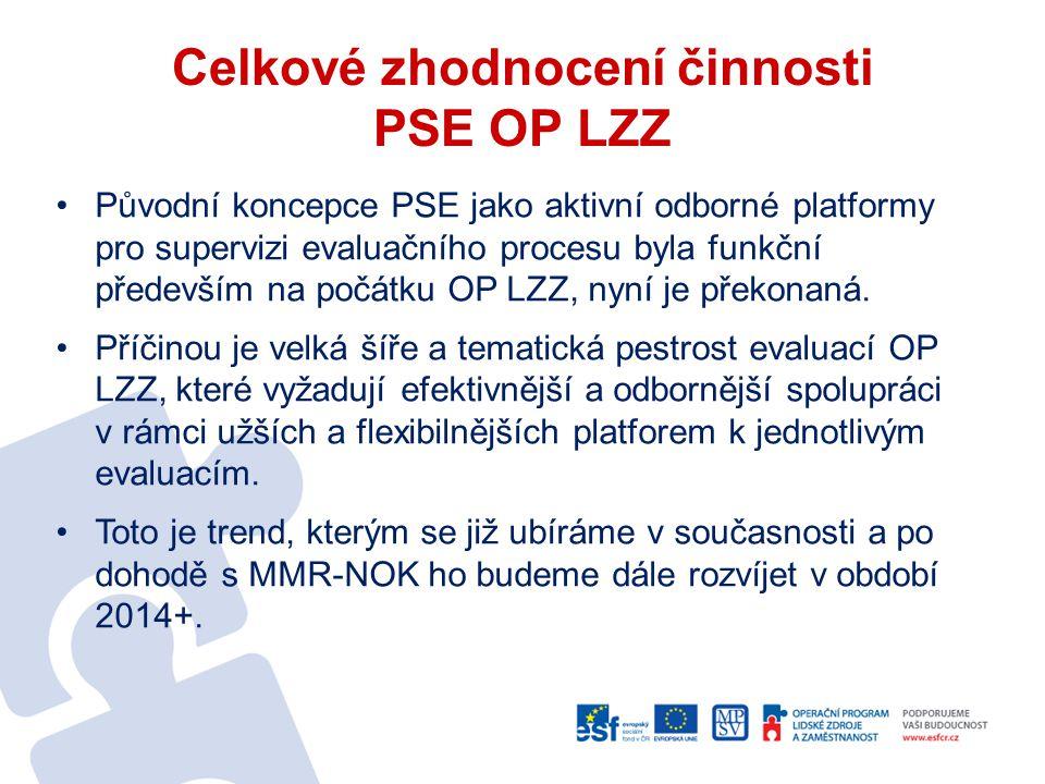 Celkové zhodnocení činnosti PSE OP LZZ