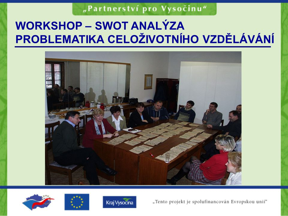 WORKSHOP – SWOT ANALÝZA