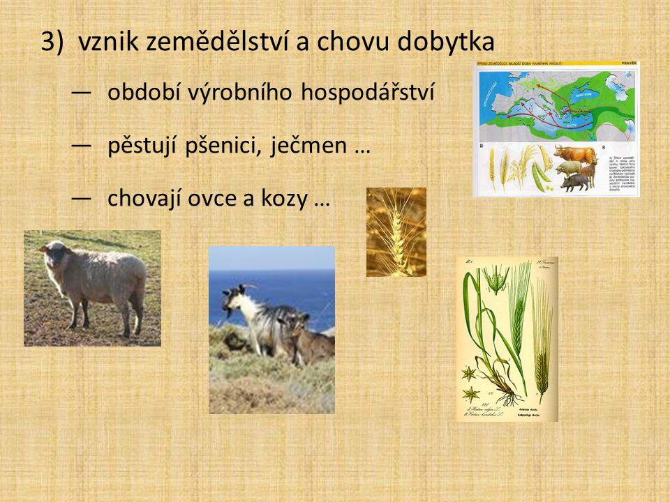 vznik zemědělství a chovu dobytka