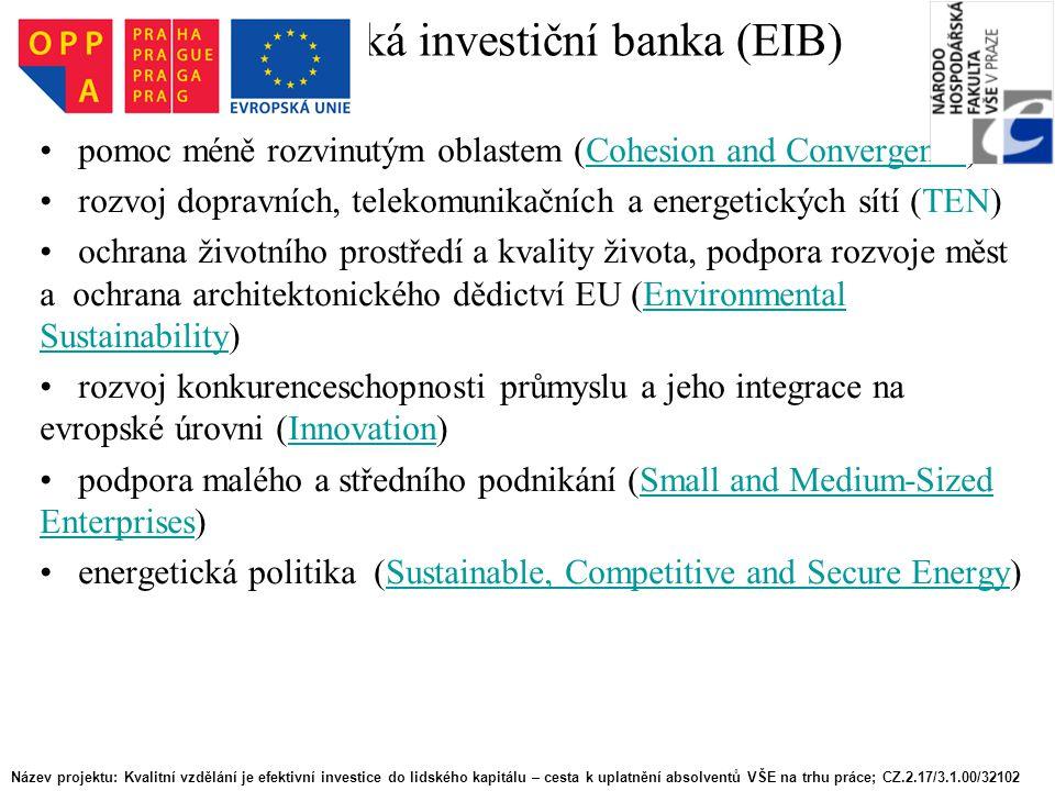 Evropská investiční banka (EIB)