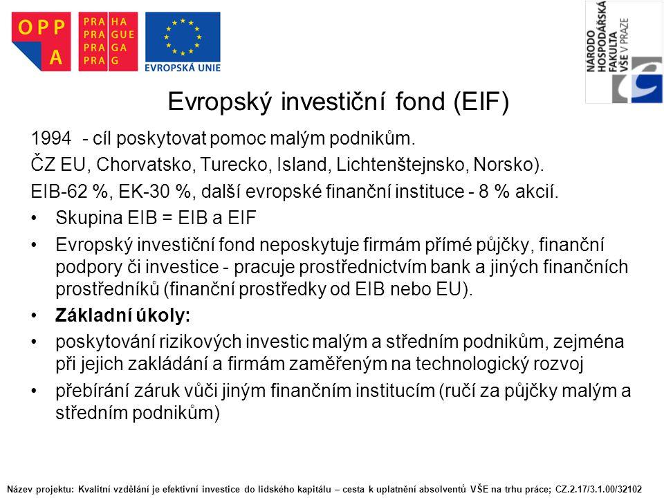 Evropský investiční fond (EIF)