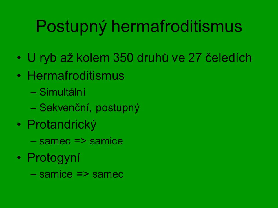Postupný hermafroditismus