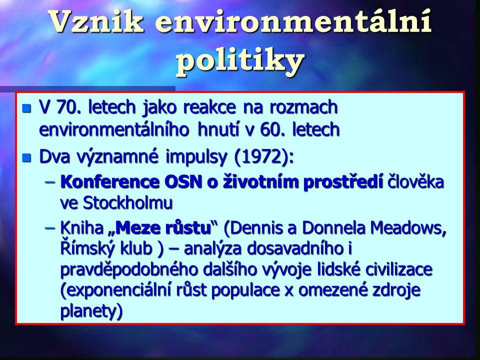 Vznik environmentální politiky