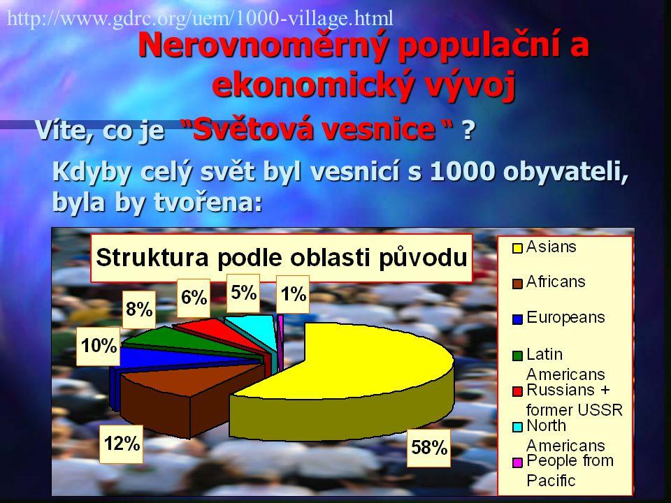 Nerovnoměrný populační a ekonomický vývoj