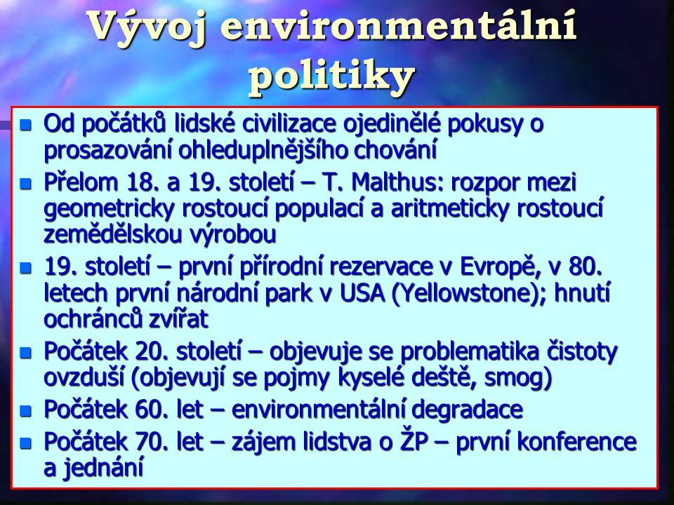 Vývoj environmentální politiky