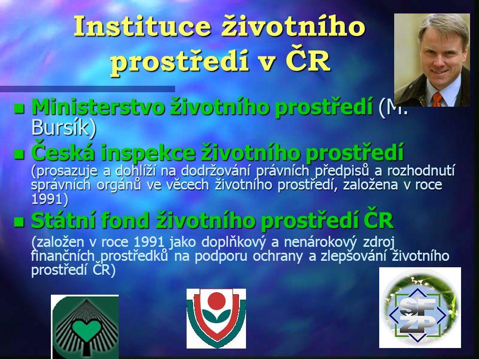 Instituce životního prostředí v ČR