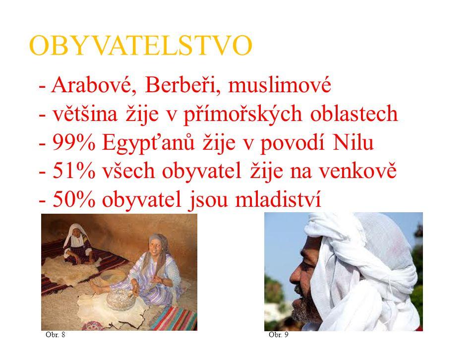 OBYVATELSTVO - Arabové, Berbeři, muslimové