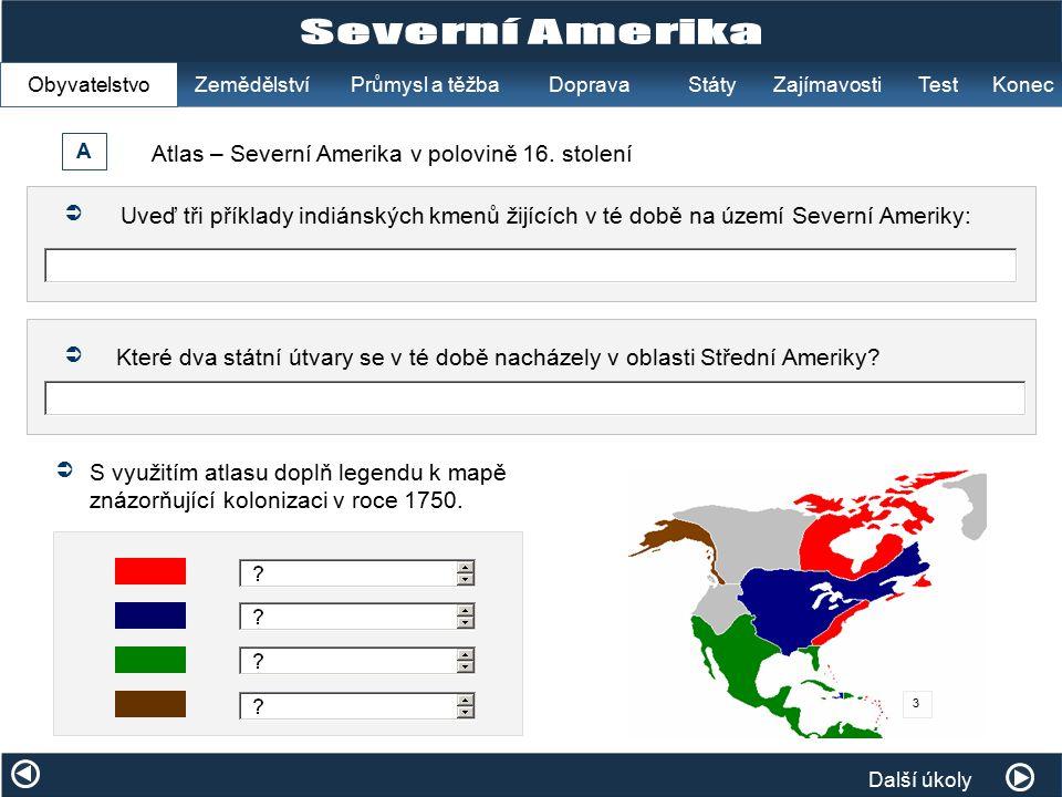 Atlas – Severní Amerika v polovině 16. stolení