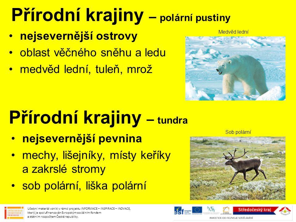 Přírodní krajiny – polární pustiny
