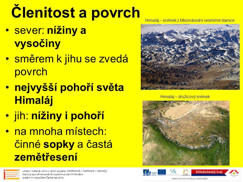 Členitost a povrch sever: nížiny a vysočiny