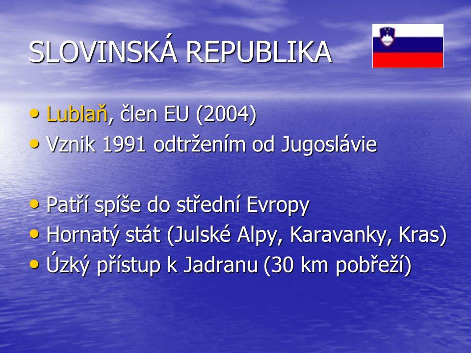 SLOVINSKÁ REPUBLIKA Lublaň, člen EU (2004)