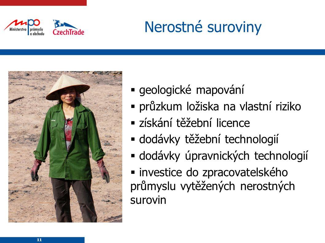 Nerostné suroviny geologické mapování
