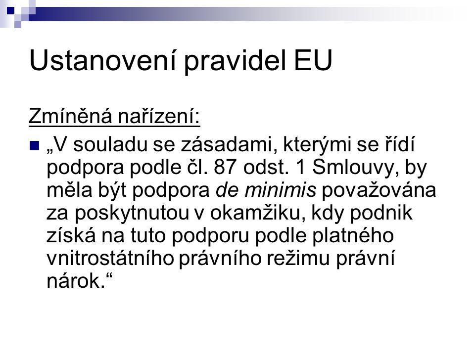 Ustanovení pravidel EU
