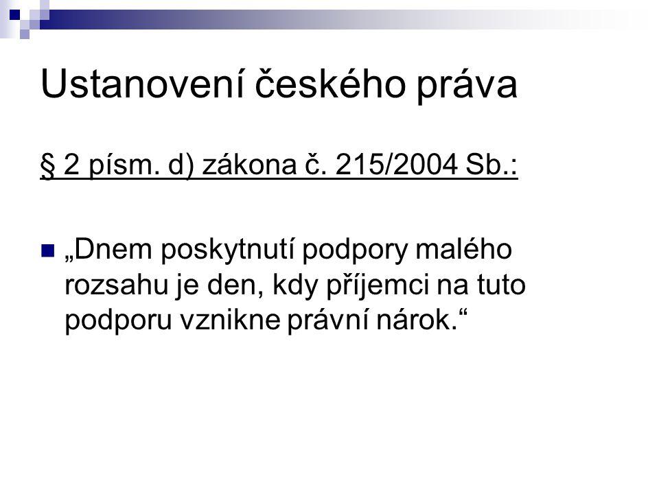 Ustanovení českého práva