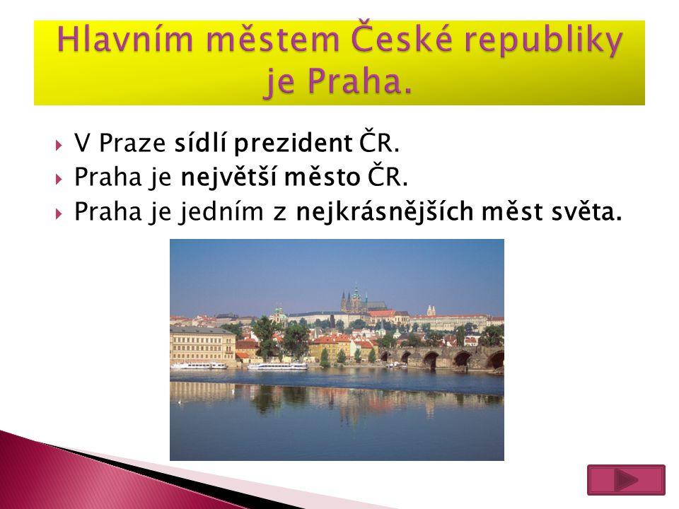 Hlavním městem České republiky je Praha.