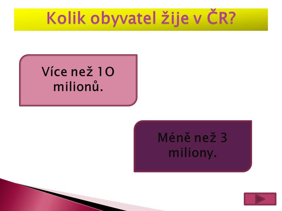 Kolik obyvatel žije v ČR