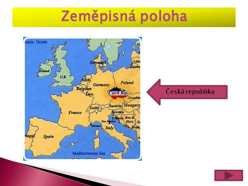 Zeměpisná poloha Česká republika