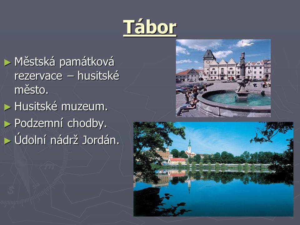 Tábor Městská památková rezervace – husitské město. Husitské muzeum.