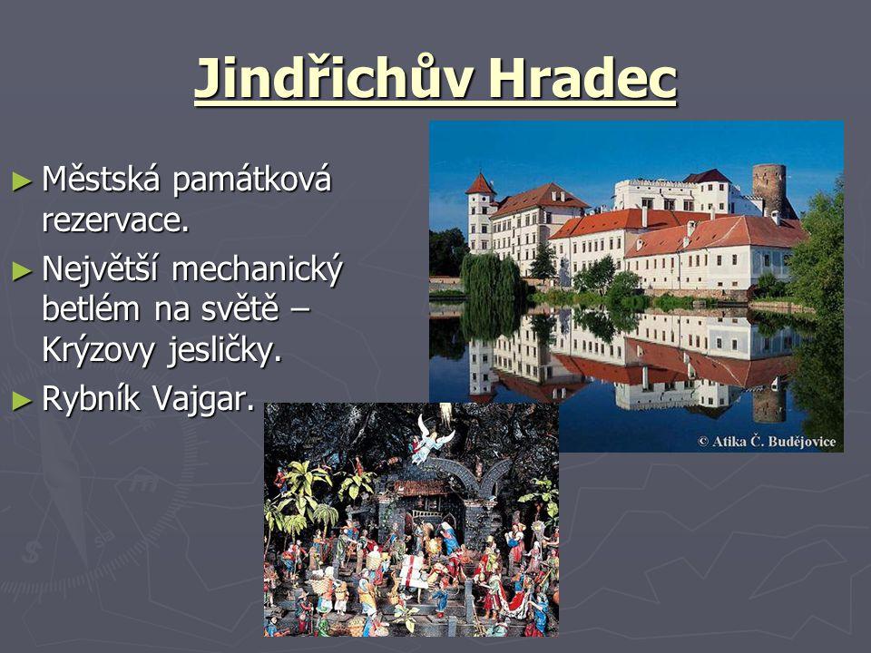 Jindřichův Hradec Městská památková rezervace.