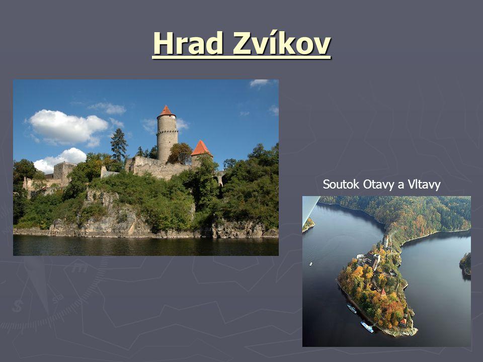 Hrad Zvíkov Soutok Otavy a Vltavy