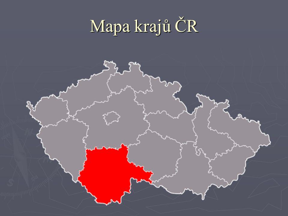 Mapa krajů ČR