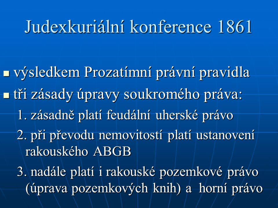 Judexkuriální konference 1861