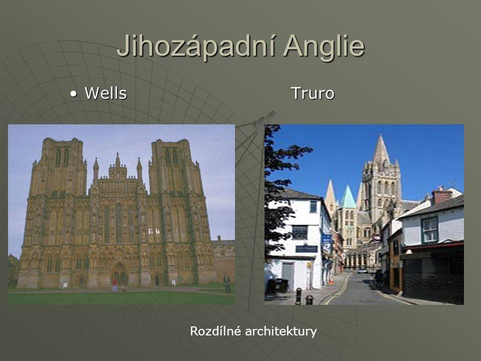 Jihozápadní Anglie Wells Truro Rozdílné architektury