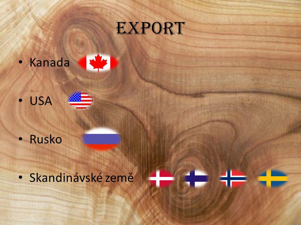 Export Kanada USA Rusko Skandinávské země