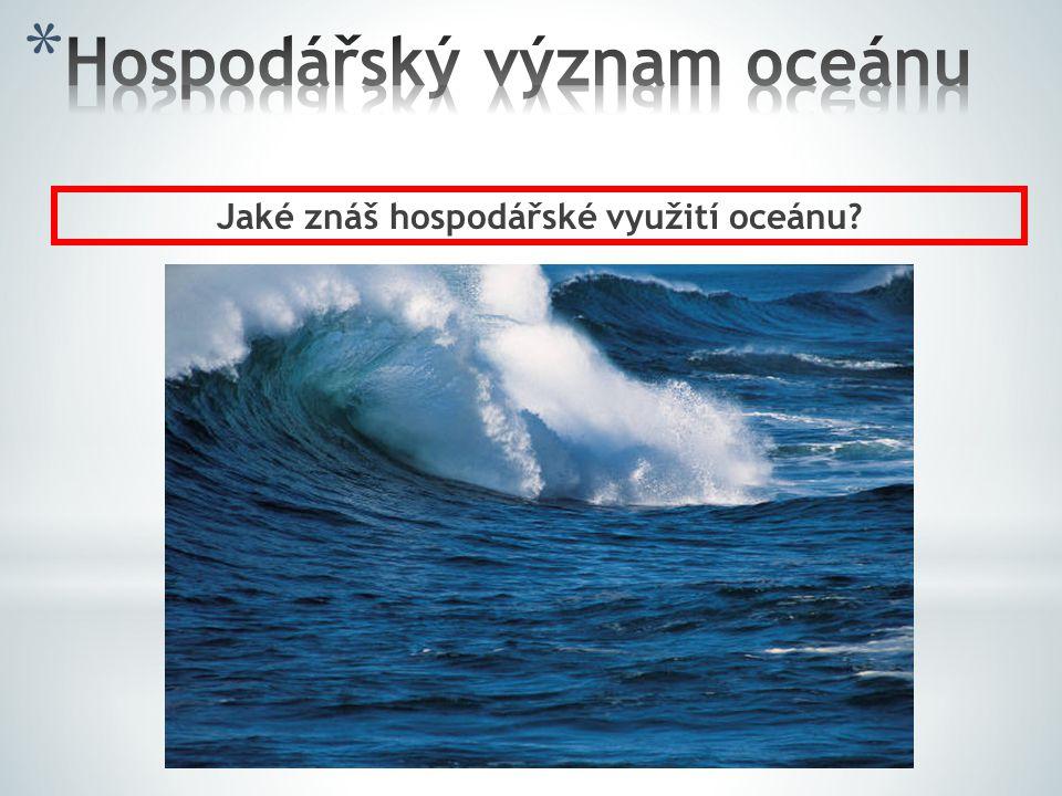 Hospodářský význam oceánu