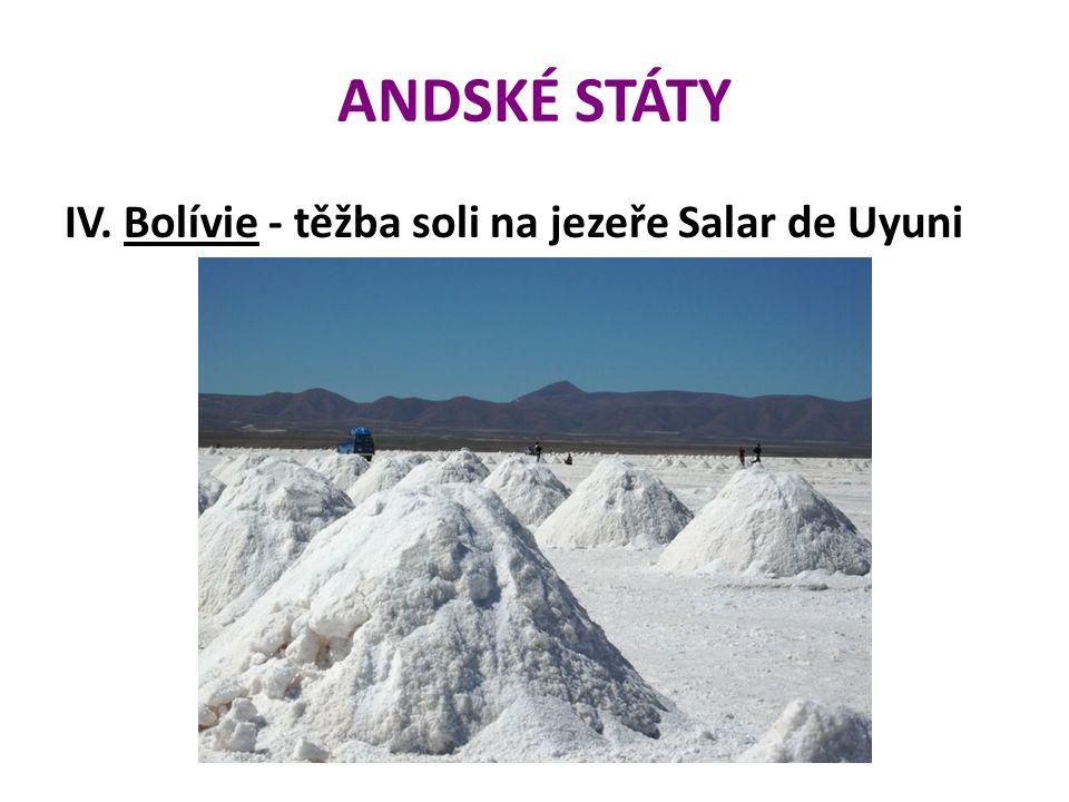 ANDSKÉ STÁTY IV. Bolívie - těžba soli na jezeře Salar de Uyuni