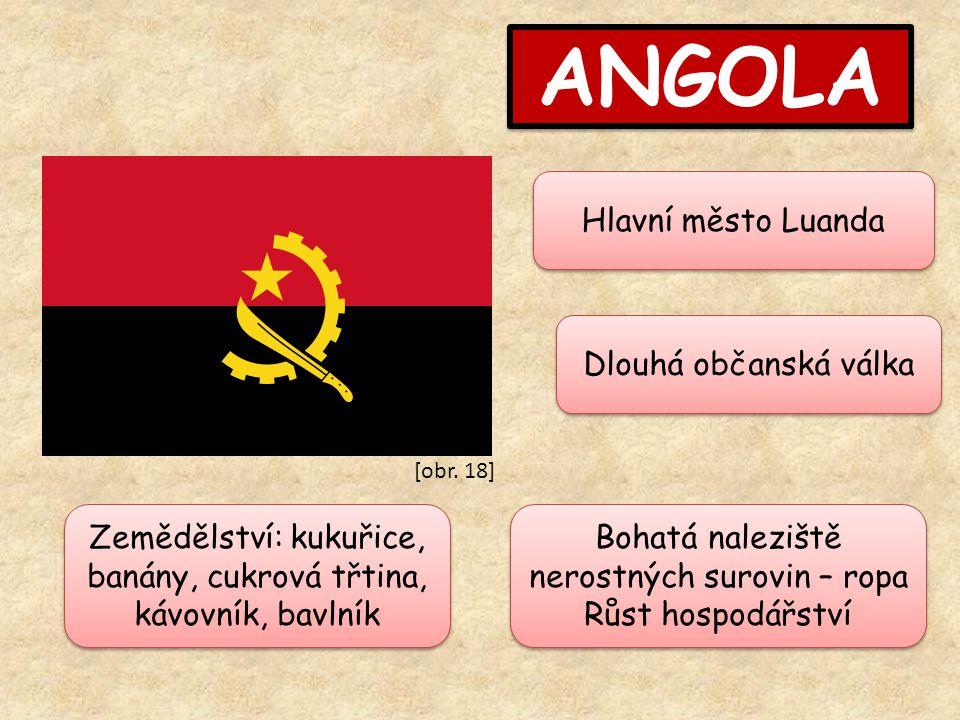 ANGOLA Hlavní město Luanda Dlouhá občanská válka