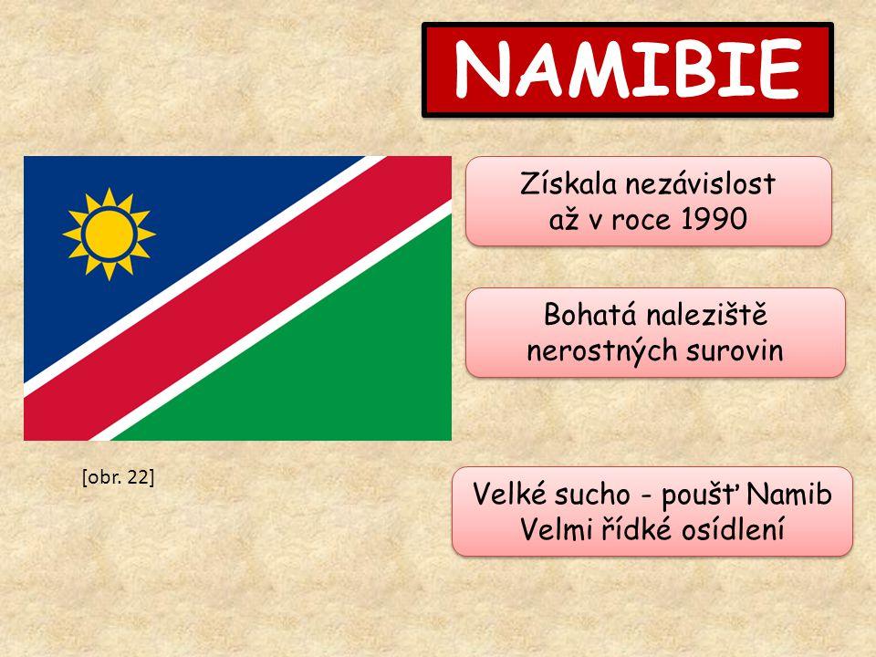 NAMIBIE Získala nezávislost až v roce 1990