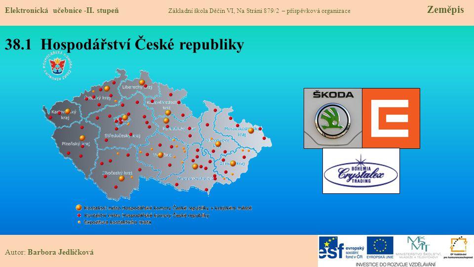 38.1 Hospodářství České republiky