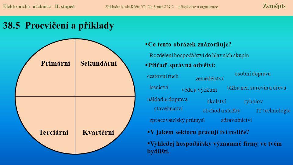 38.5 Procvičení a příklady Primární Sekundární Terciární Kvartérní